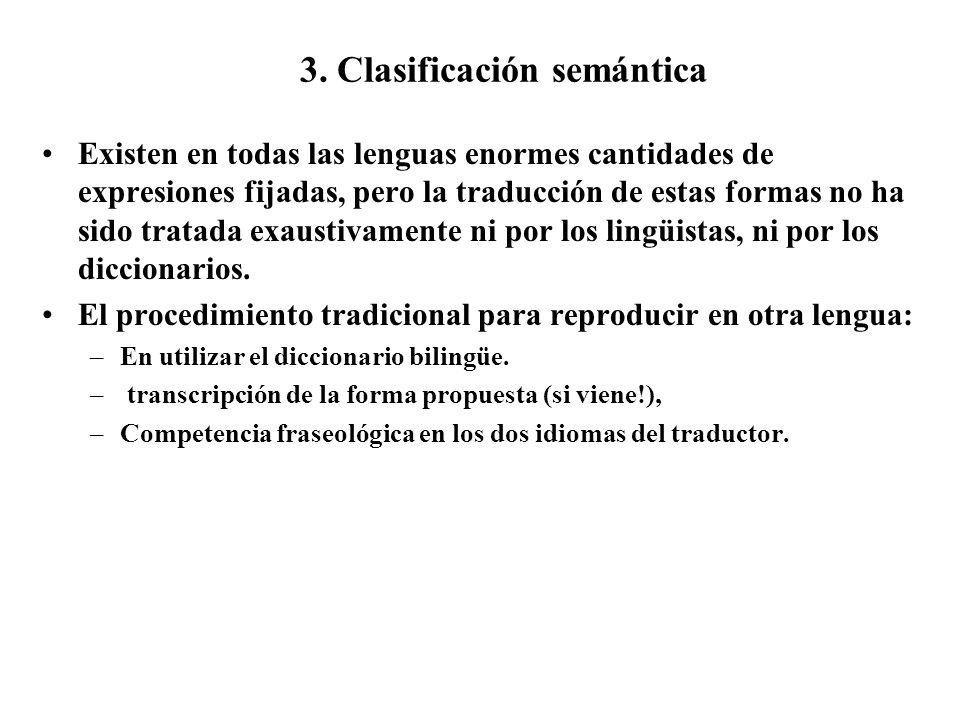 3. Clasificación semántica