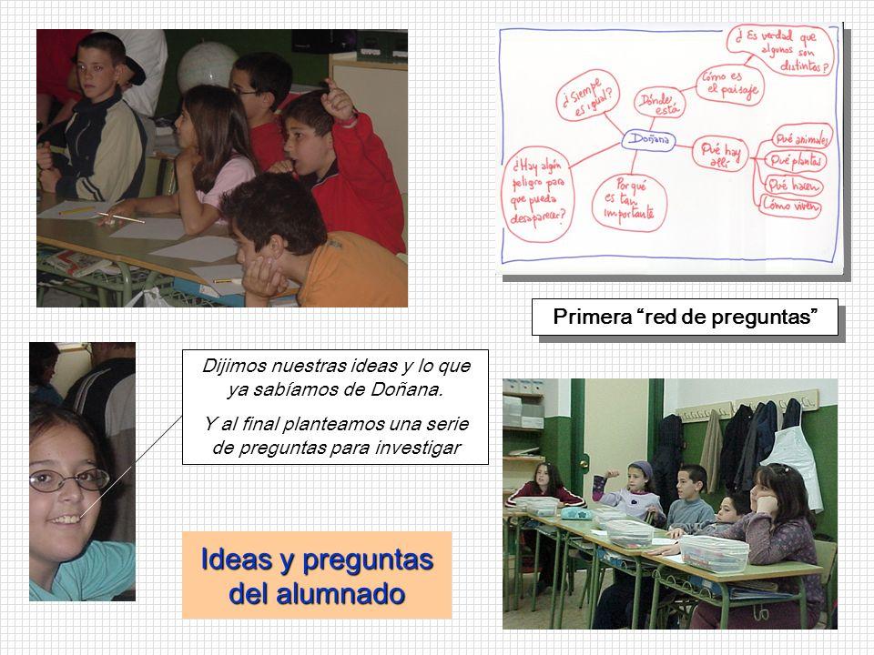 Ideas y preguntas del alumnado