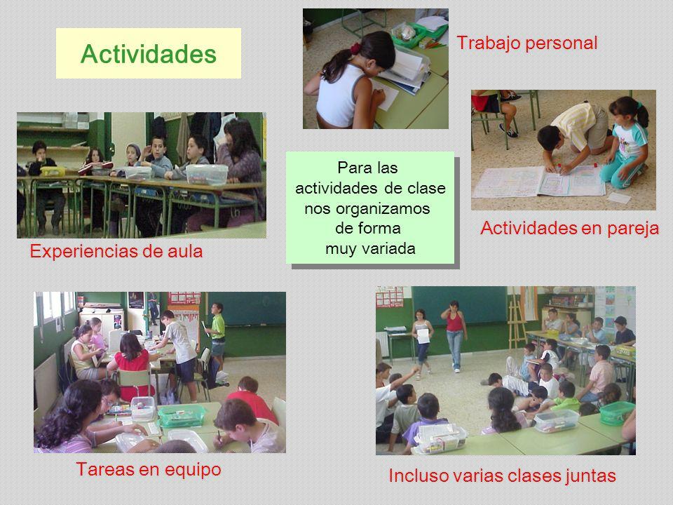 Actividades Trabajo personal Actividades en pareja