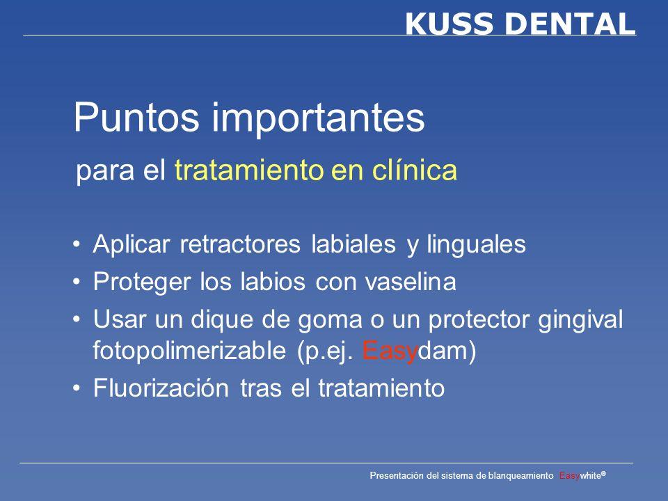 Puntos importantes para el tratamiento en clínica