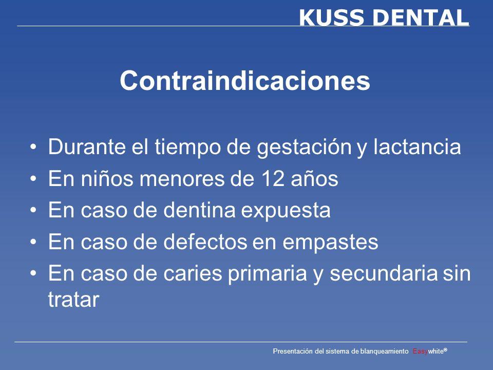 Contraindicaciones Durante el tiempo de gestación y lactancia