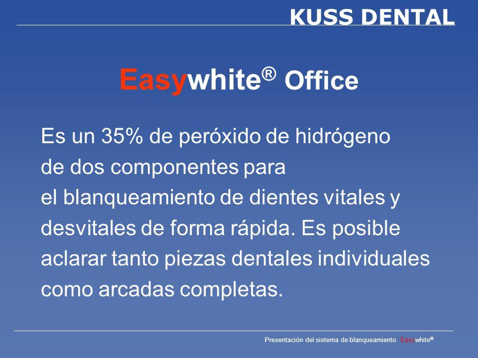 Easywhite® Office Es un 35% de peróxido de hidrógeno