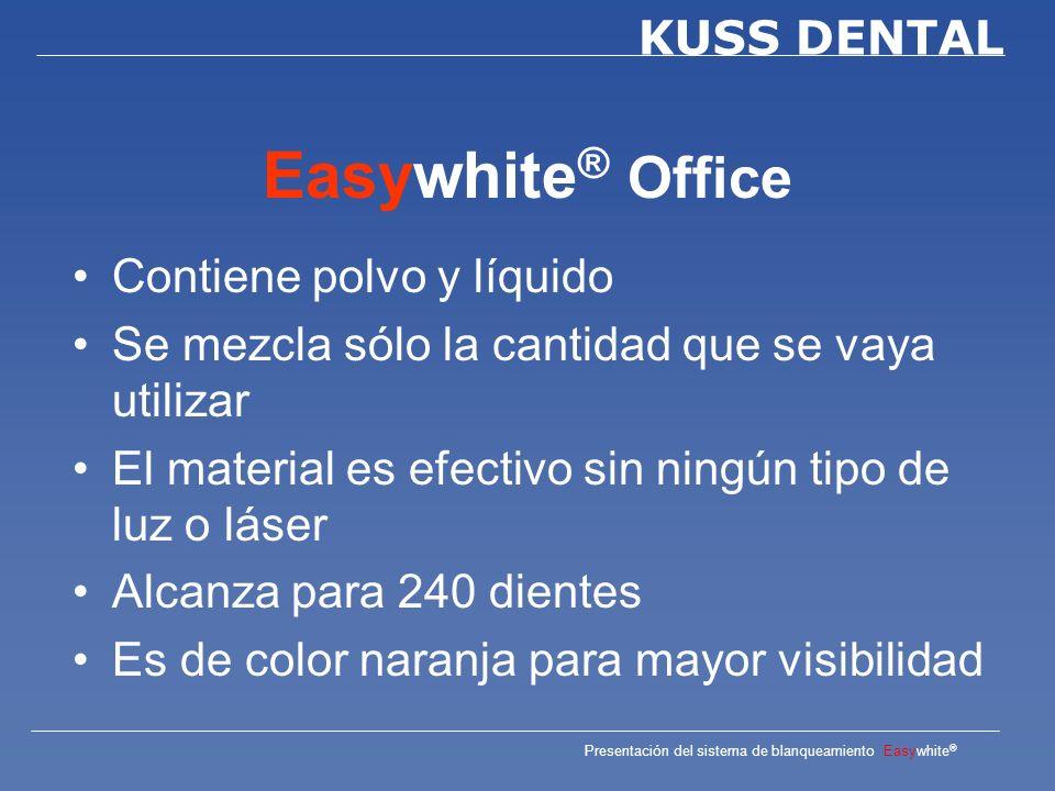 Easywhite® Office Contiene polvo y líquido