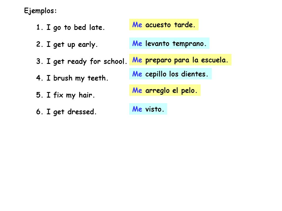 Put Away Clothes In Spanish ~ R a apuntes reflexive verbs ppt descargar