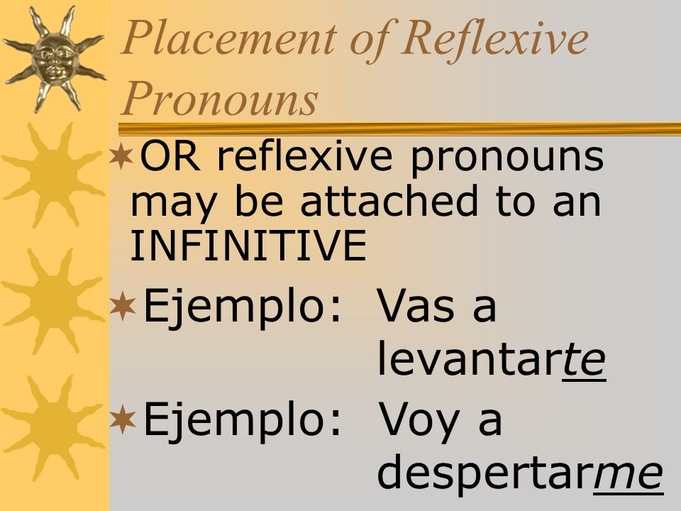 Placement of Reflexive Pronouns