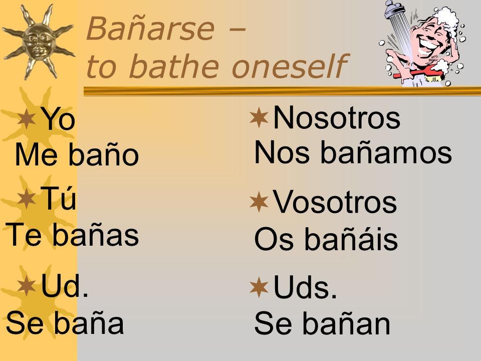 Bañarse – to bathe oneself