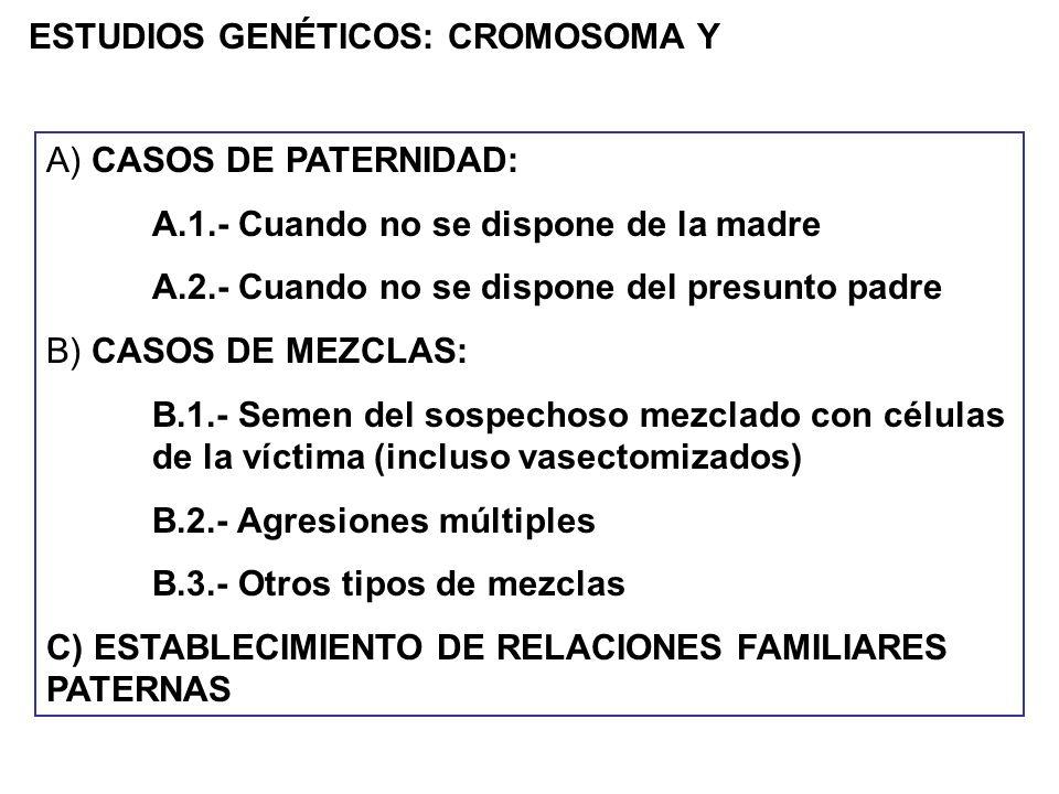 ESTUDIOS GENÉTICOS: CROMOSOMA Y