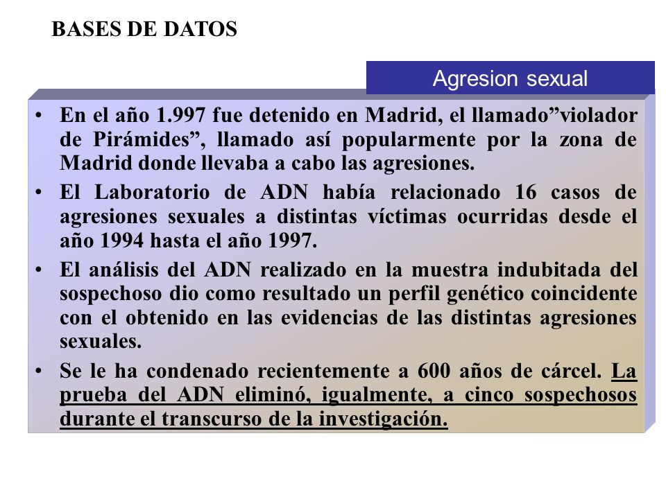 BASES DE DATOS Agresion sexual.