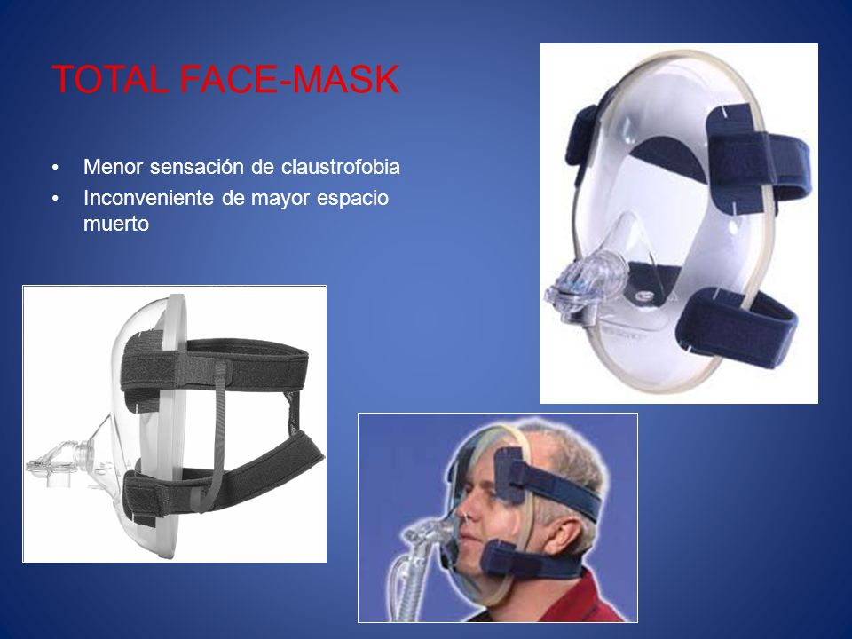 TOTAL FACE-MASK Menor sensación de claustrofobia