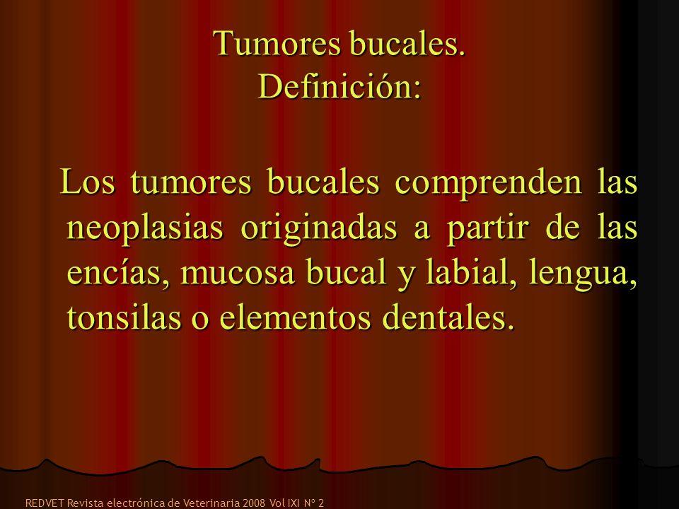 Tumores bucales. Definición: