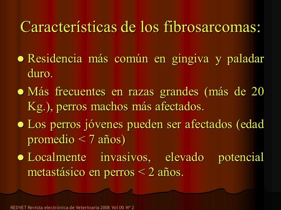 Características de los fibrosarcomas: