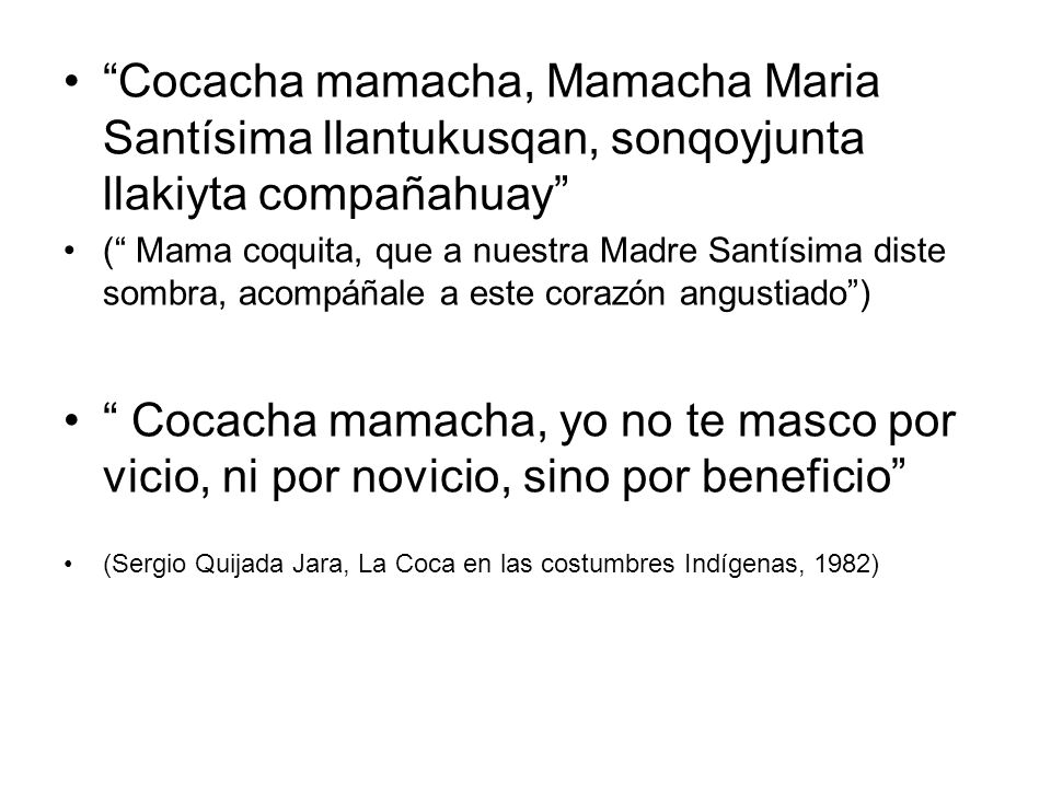 Cocacha mamacha, Mamacha Maria Santísima llantukusqan, sonqoyjunta llakiyta compañahuay