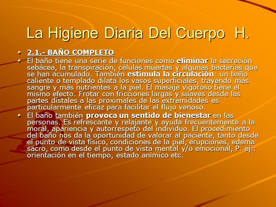 La Higiene Diaria Del Cuerpo H.