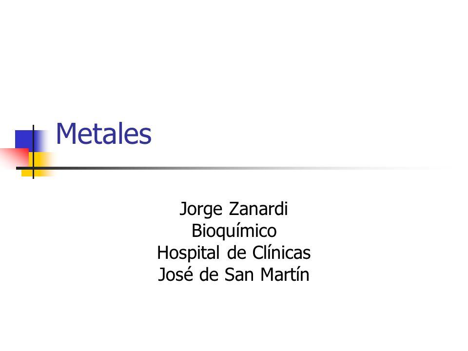 Jorge Zanardi Bioquímico Hospital de Clínicas José de San Martín