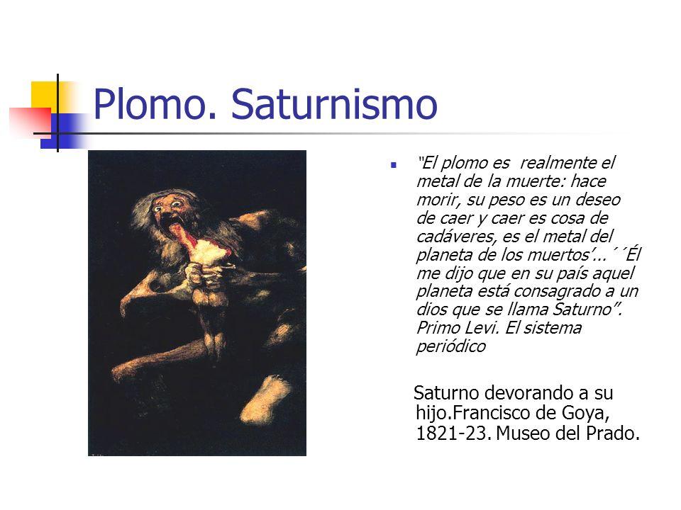 Plomo. Saturnismo