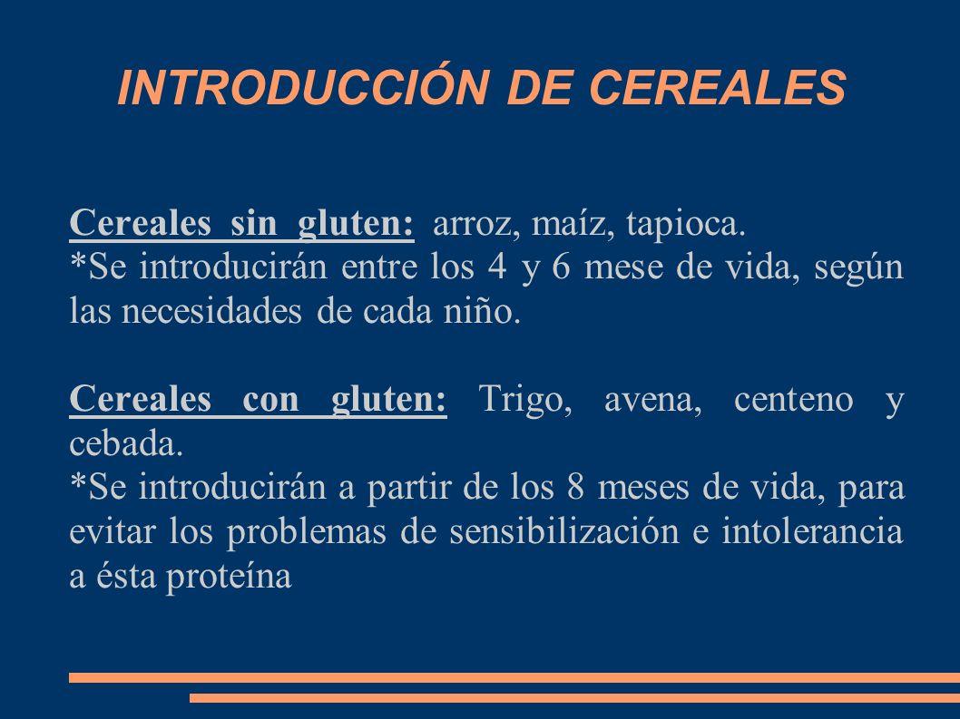 INTRODUCCIÓN DE CEREALES