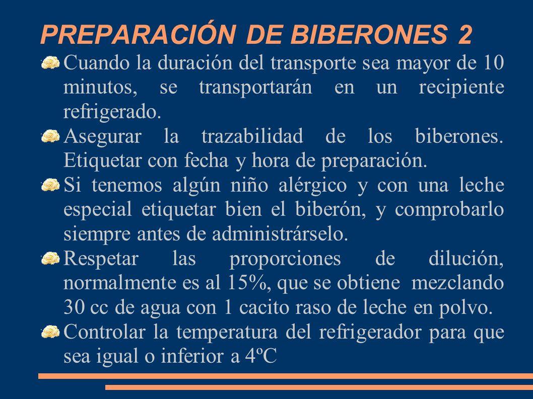 PREPARACIÓN DE BIBERONES 2