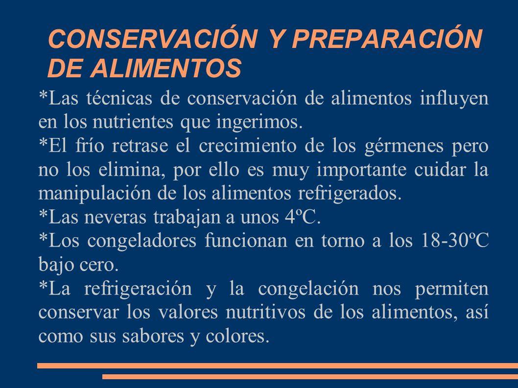 CONSERVACIÓN Y PREPARACIÓN DE ALIMENTOS