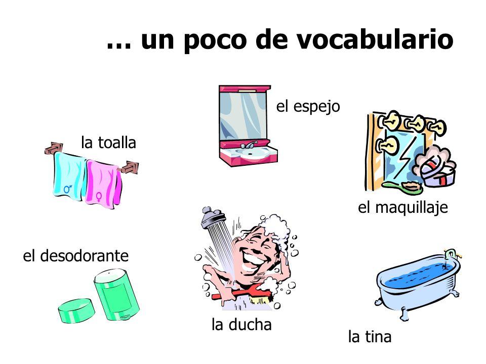 … un poco de vocabulario