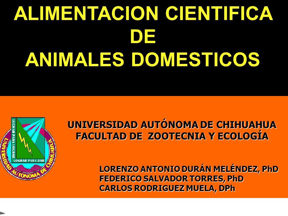 ALIMENTACION CIENTIFICA DE ANIMALES DOMESTICOS