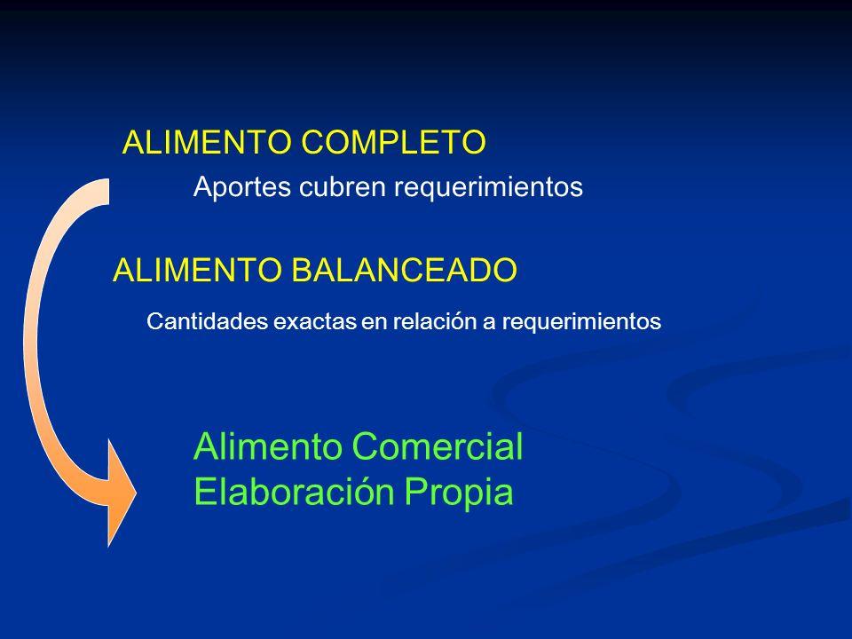 Alimento Comercial Elaboración Propia ALIMENTO COMPLETO