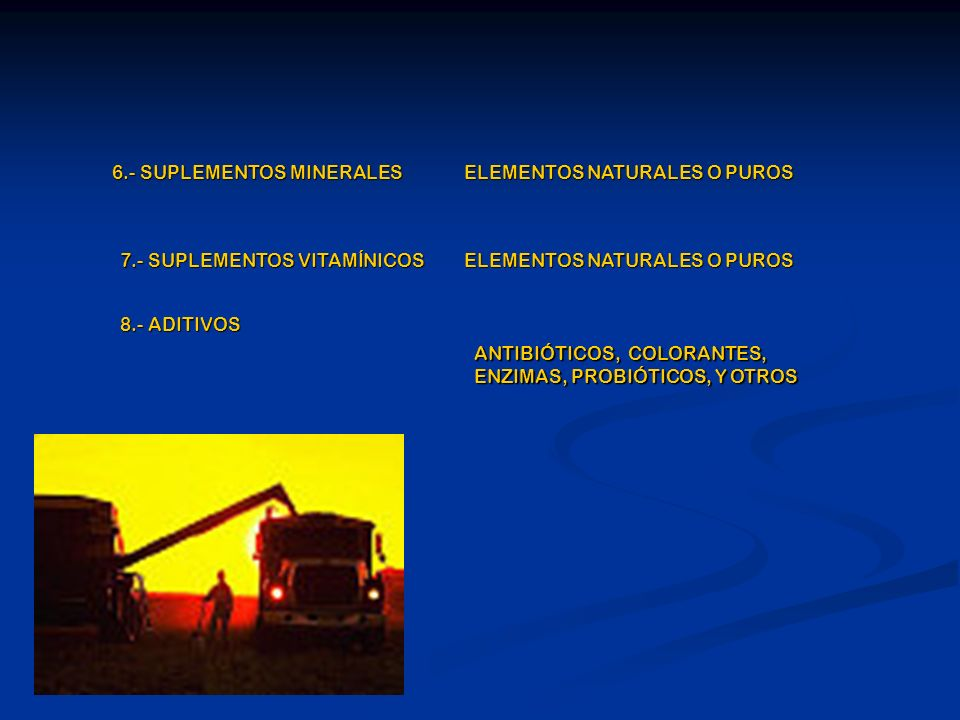 6.- SUPLEMENTOS MINERALES