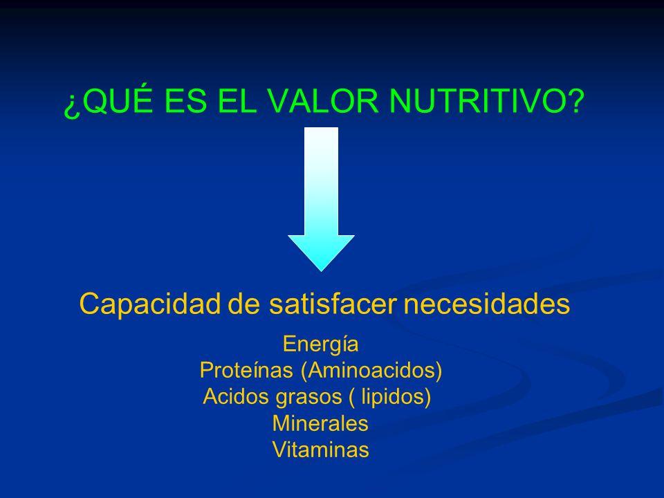 ¿QUÉ ES EL VALOR NUTRITIVO