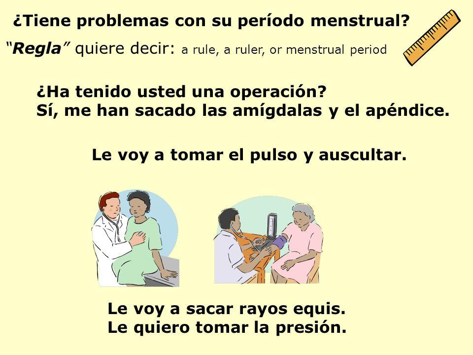 ¿Tiene problemas con su período menstrual
