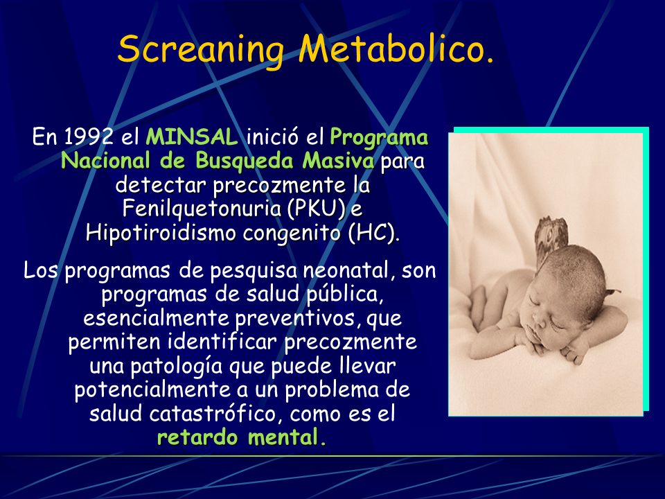 Screaning Metabolico.