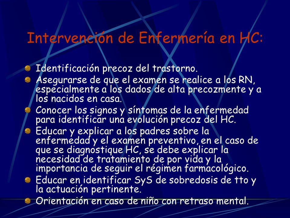 Intervención de Enfermería en HC: