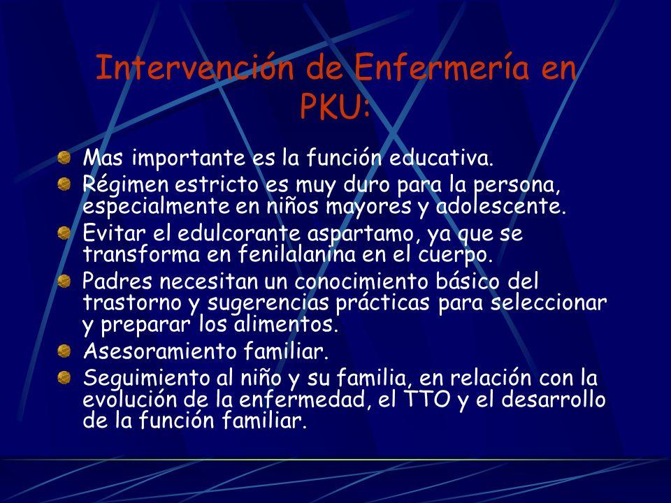 Intervención de Enfermería en PKU: