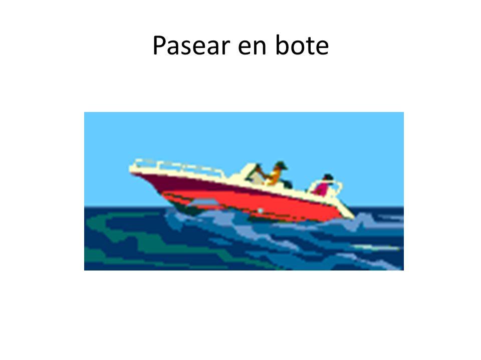 Pasear en bote