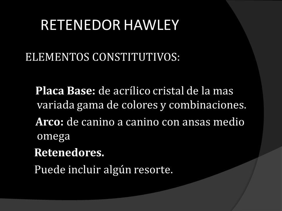 RETENEDOR HAWLEY ELEMENTOS CONSTITUTIVOS: