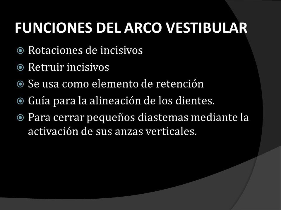 FUNCIONES DEL ARCO VESTIBULAR