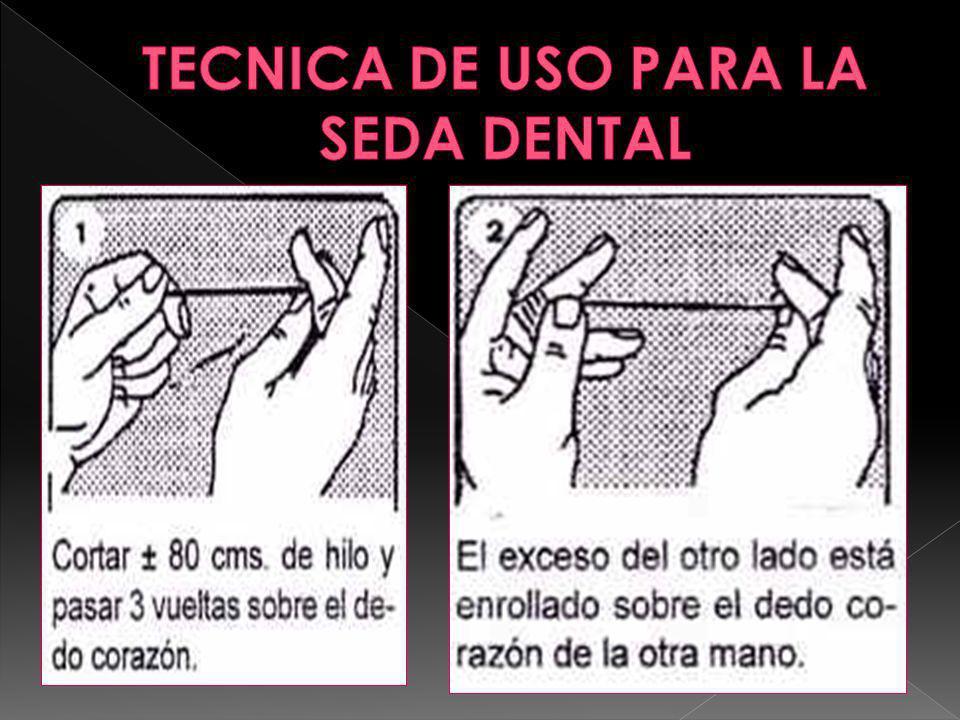 TECNICA DE USO PARA LA SEDA DENTAL