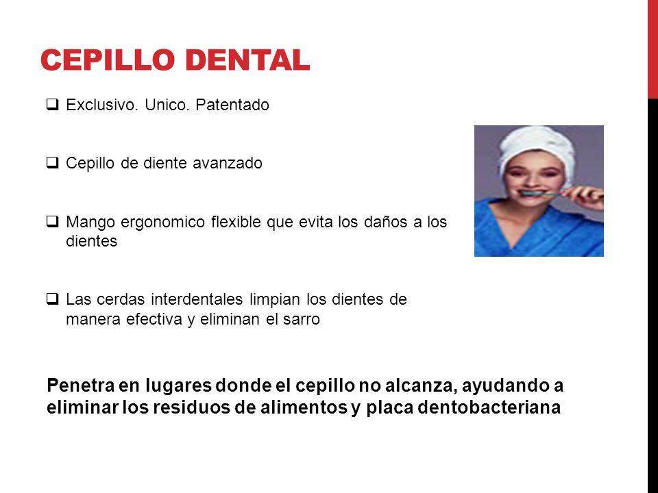 CEPILLO DENTAL Exclusivo. Unico. Patentado. Cepillo de diente avanzado. Mango ergonomico flexible que evita los daños a los dientes.