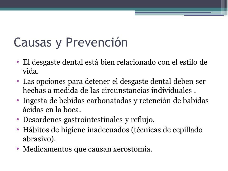 Causas y Prevención El desgaste dental está bien relacionado con el estilo de vida.
