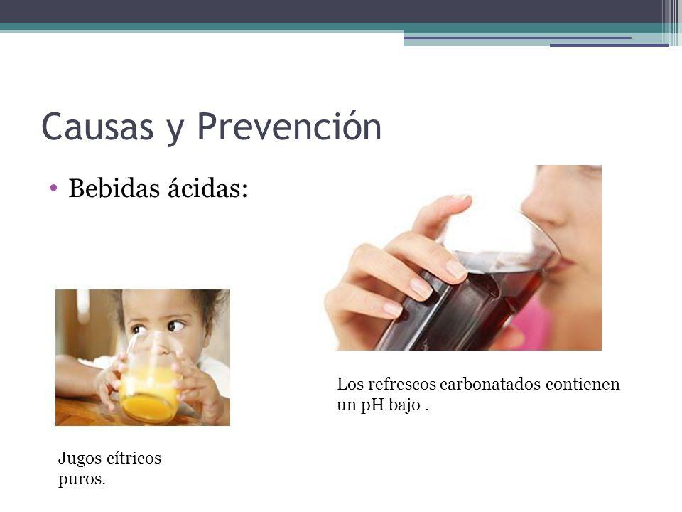 Causas y Prevención Bebidas ácidas: