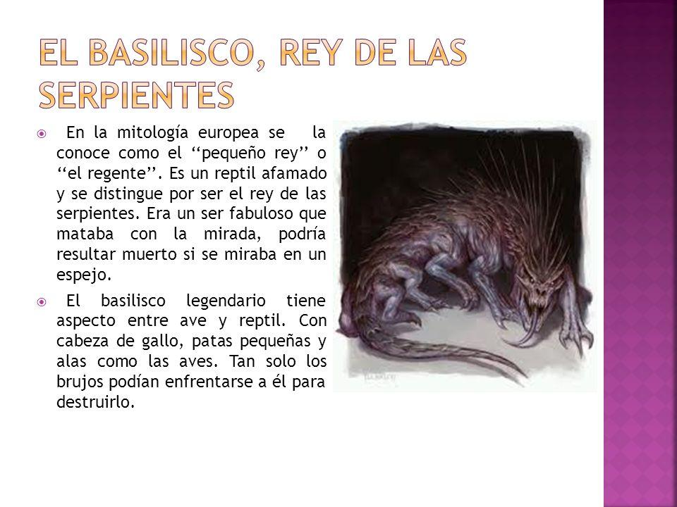 el Basilisco, rey de las serpientes