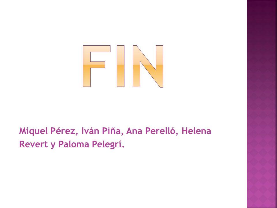 Fin Miquel Pérez, Iván Piña, Ana Perelló, Helena Revert y Paloma Pelegrí.