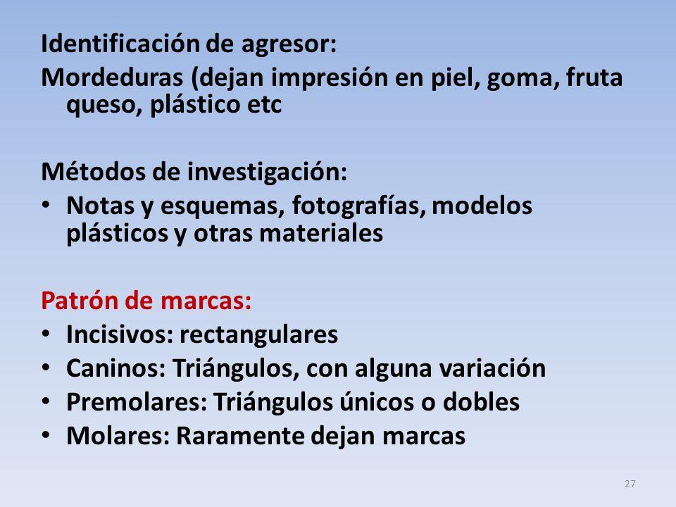 Identificación de agresor: