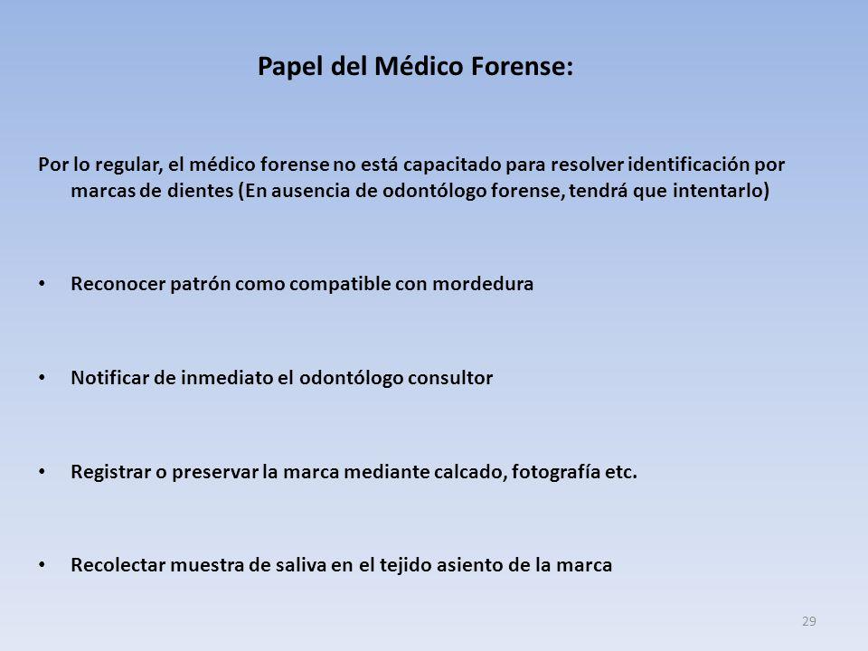 Papel del Médico Forense: