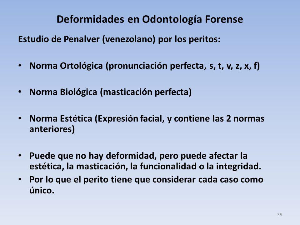 Deformidades en Odontología Forense