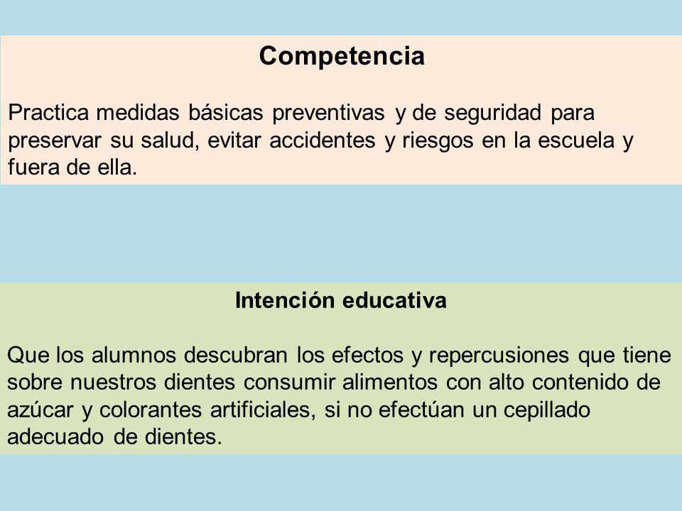 Competencia Practica medidas básicas preventivas y de seguridad para preservar su salud, evitar accidentes y riesgos en la escuela y fuera de ella.