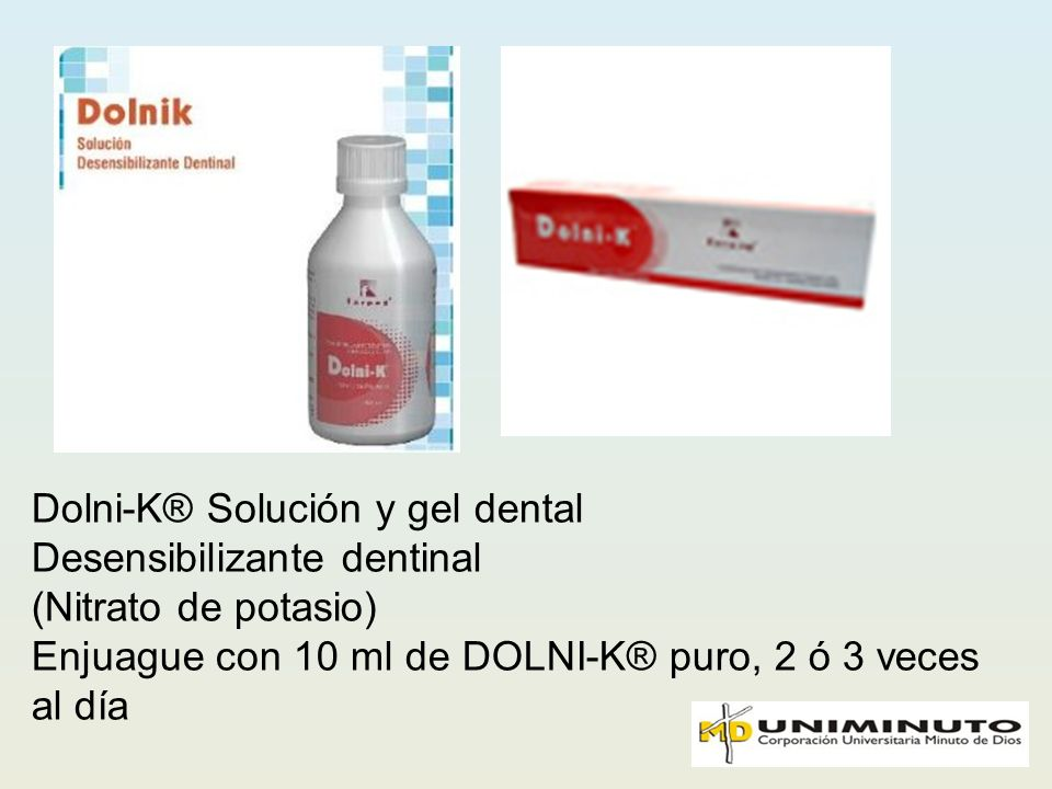 Dolni-K® Solución y gel dental