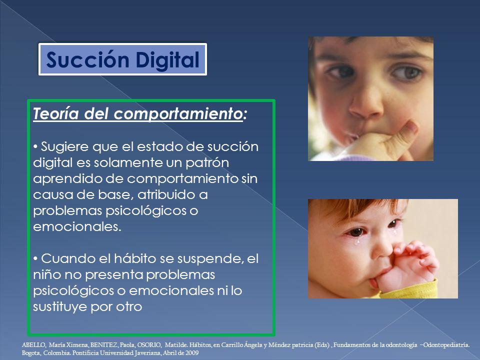 Succión Digital Teoría del comportamiento: