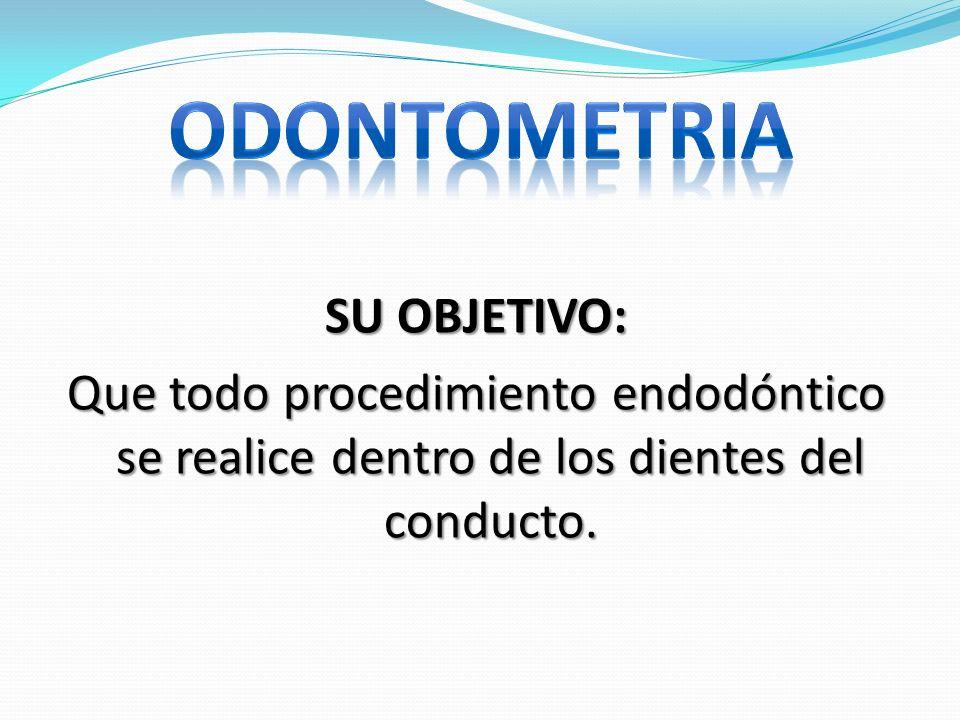 ODONTOMETRIA SU OBJETIVO: