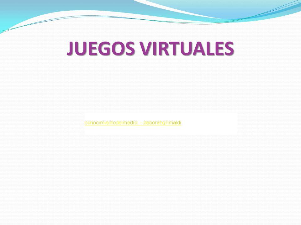 JUEGOS VIRTUALES conocimientodelmedio - deborahgrimaldi