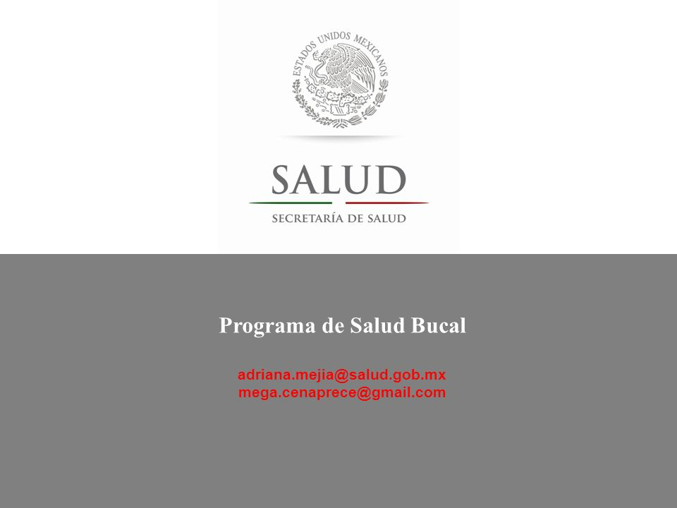 Programa de Salud Bucal