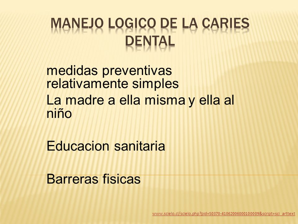 MANEJO LOGICO DE LA CARIES DENTAL